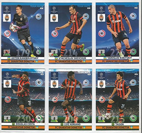 Champions League Adrenalyn XL 2014/2015 FC Shakhtar Donetsk Base Card Team Set 14/15