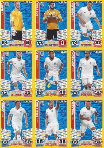 Match Attax England World Cup 2014 England Base Card Team Set (27 Cards)