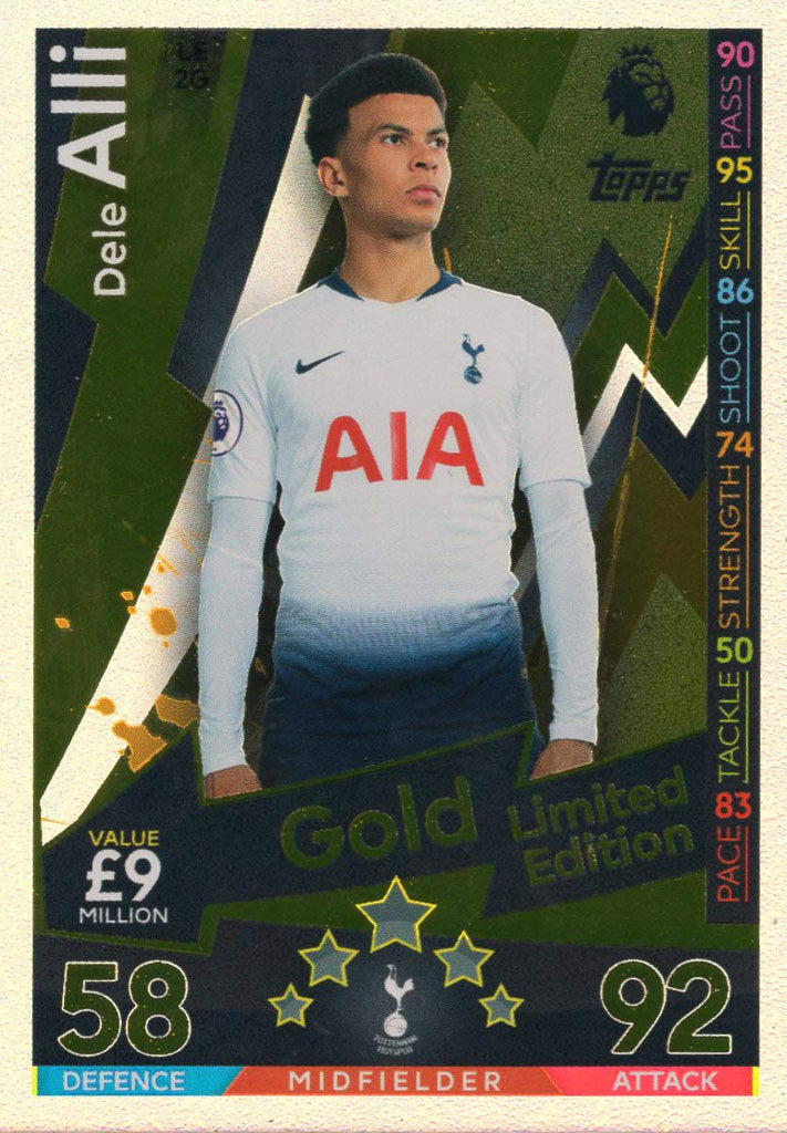 MATCH ATTAX 2018/19 DELE ALLI GOLD LIMITED EDITION CARD LE2G