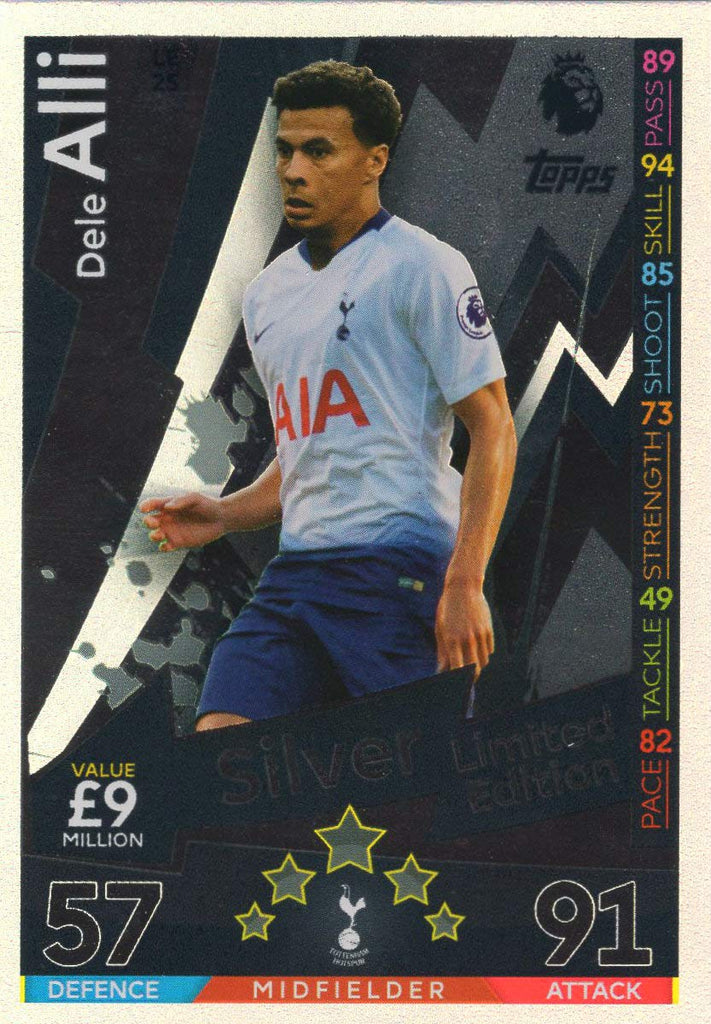 MATCH ATTAX 2018/19 DELE ALLI SILVER LIMITED EDITION CARD LE2S