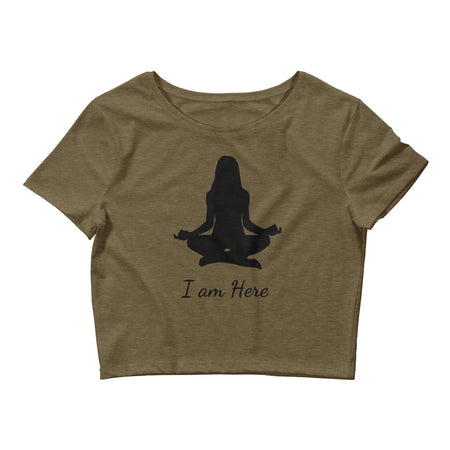 I am Here - Affirmation Crop Top