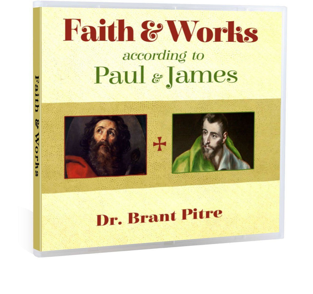 Brant Pitre presents a Bible study on the topic of Faith and Works as found in the writings of St. Paul and St. James CD