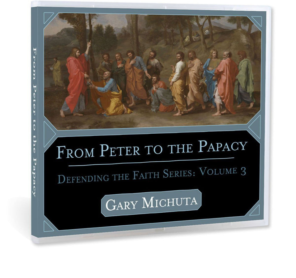 A Catholic Bible study on the papacy and first Pope, Saint Peter, as the rock upon which Jesus built his Church CD