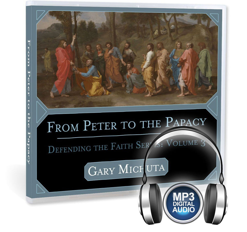 A Catholic Bible study on the papacy and first Pope, Saint Peter, as the rock upon which Jesus built his Church MP3