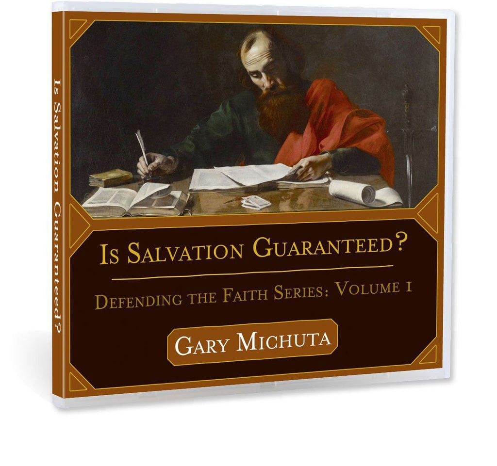"Many Christians think ""once saved always saved"" and that good works have no part in our salvation.  Is this biblical?  Gary Michuta covers these topics and others in this CD."
