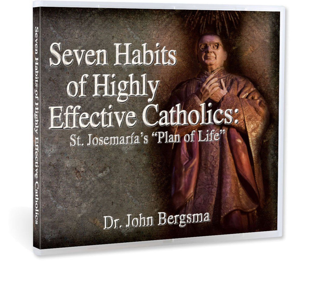 Most Catholics want to grow in holiness, but are there practical steps to achieve this?  Dr. John Bergsma gives great practical advice with the assistance of St. Josemaria Escriva in this presentation on CD.