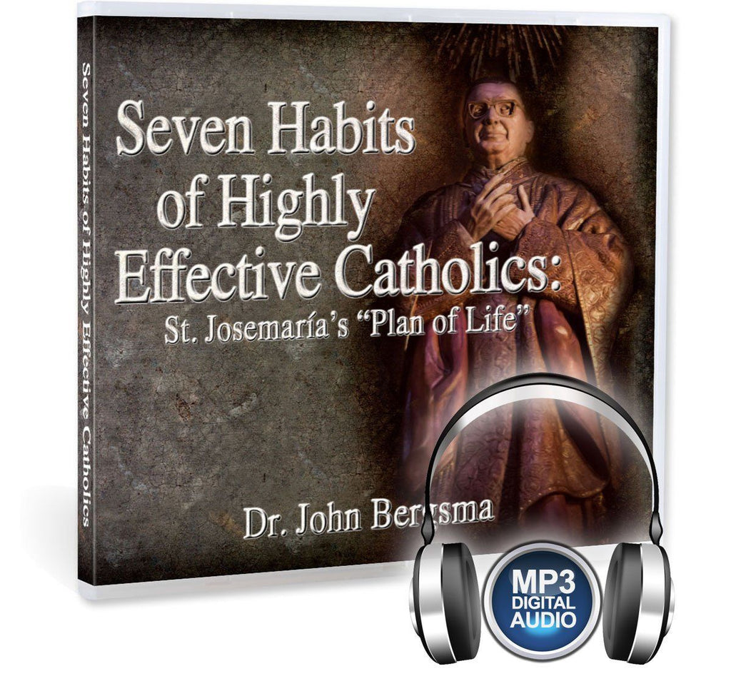 Most Catholics want to grow in holiness, but are there practical steps to achieve this?  Dr. John Bergsma gives great practical advice with the assistance of St. Josemaria Escriva in this presentation on MP3.