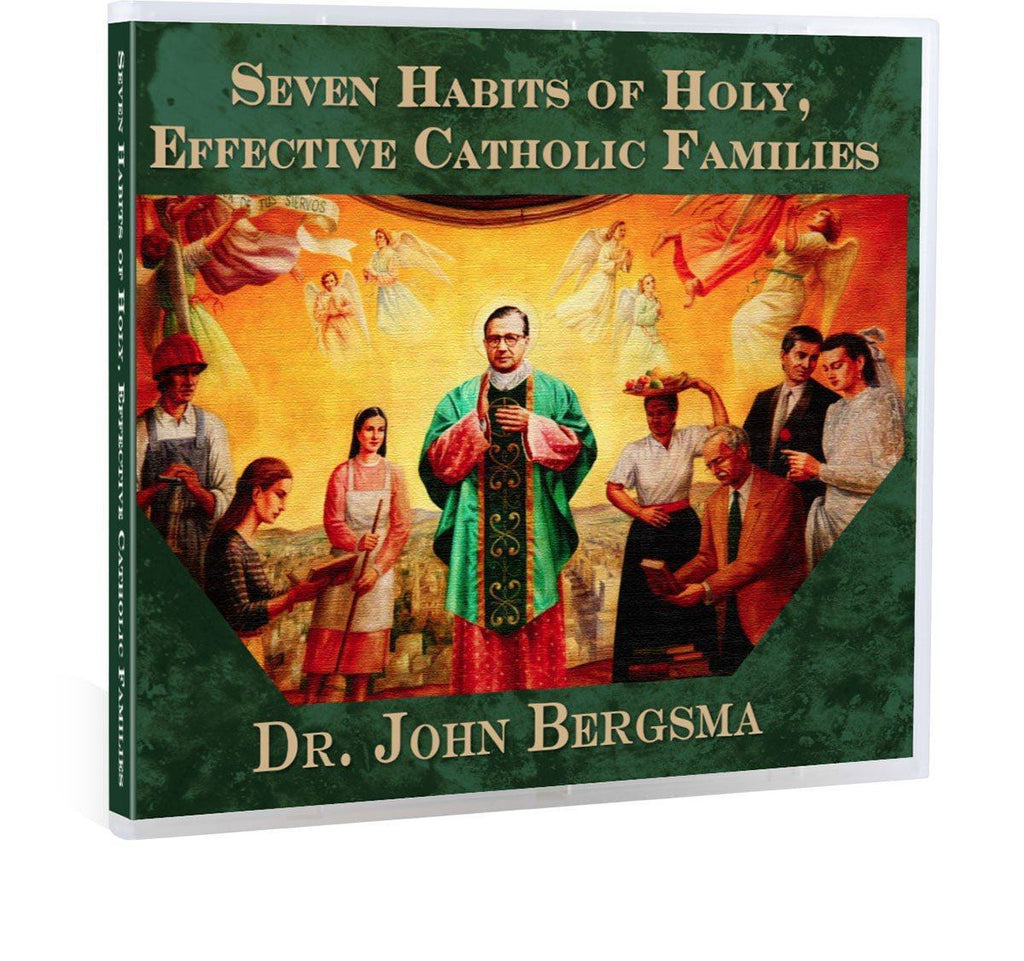 Dr. John Bergsma gives key, concrete steps on how Catholic families can thrive in the spiritual life with wisdom from St. Josemaria Escriva in this Bible study on CD.