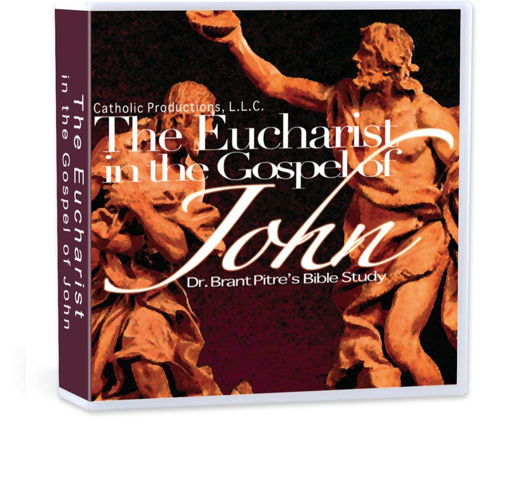 Explores how the Gospel of John ultimately points forward to and culminates in the giving of Jesus' body, blood, soul, and divinity to his disciples in the Eucharist (CD).