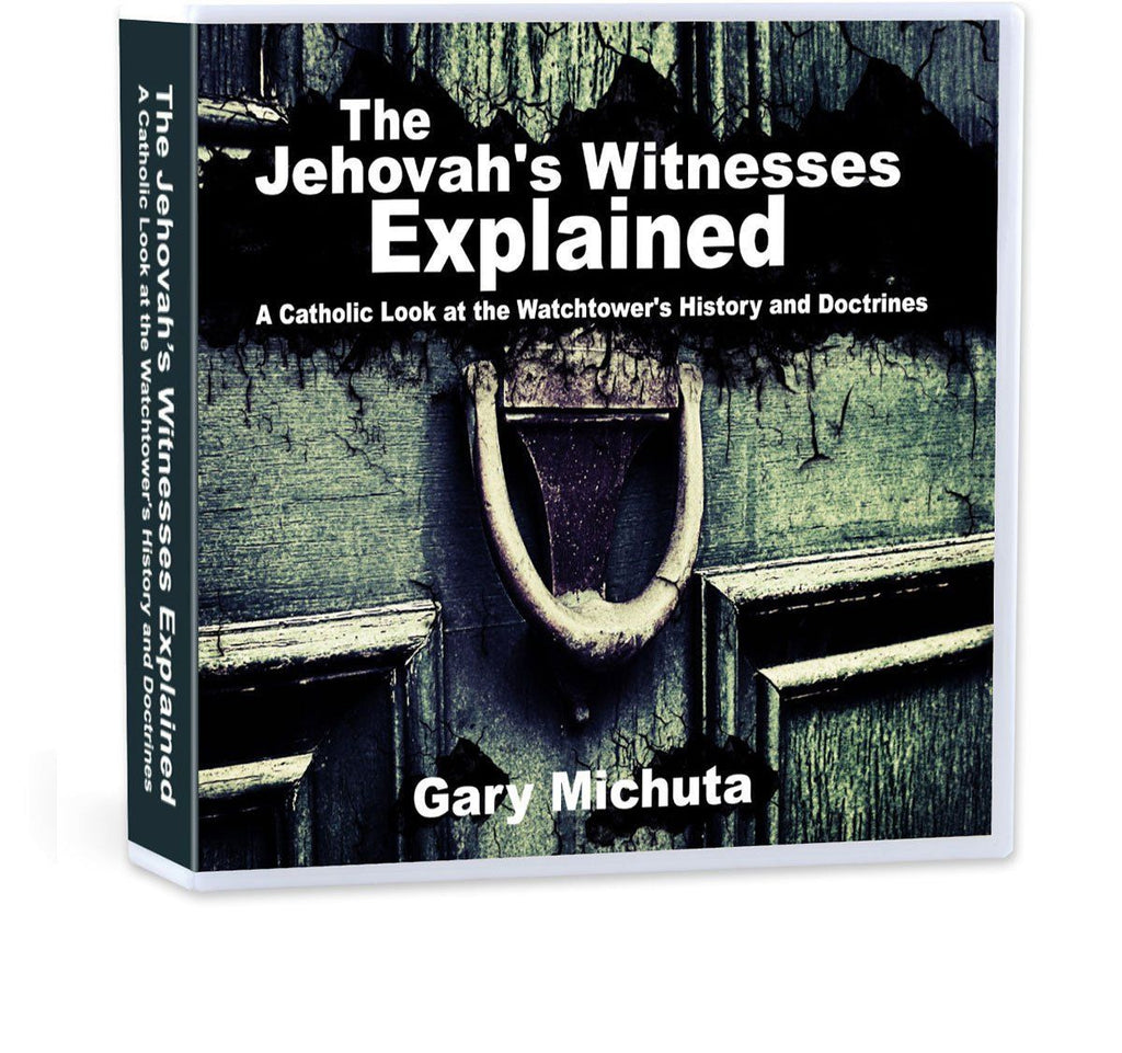 Learn the History and theology behind the Watchtower Jehovah's Witnesses with Catholic apologist Gary Michuta (CD).