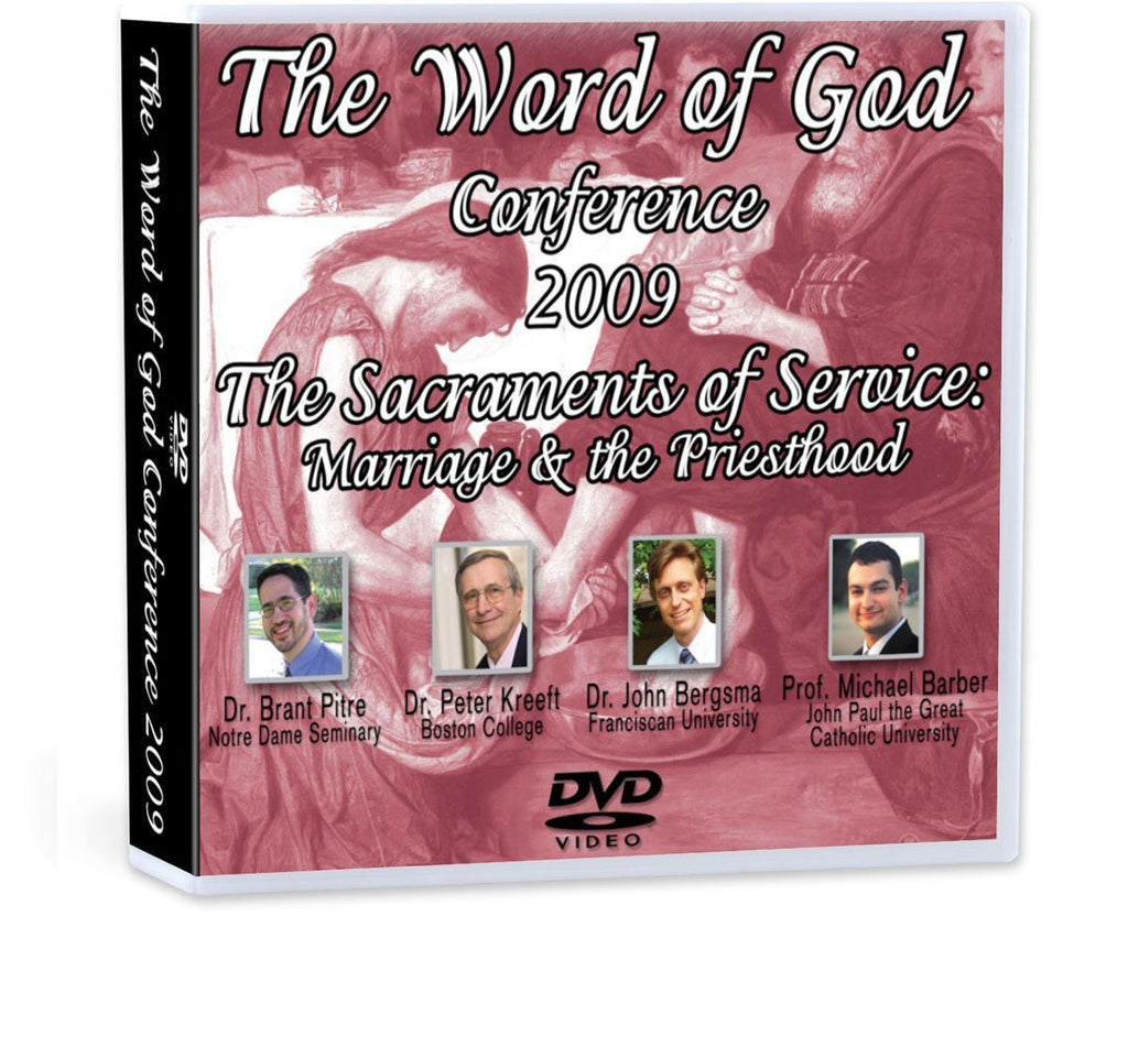 Discover the Biblical connection and complementarity of the two Sacraments of Service: Holy Matrimony and Holy Orders, with Drs. Brant Pitre, Peter Kreeft, John Bergsma and Michael Barber (DVD).