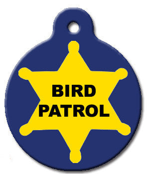 Bird Patrol Cat ID Tag - Wag-A-Tude Tags
