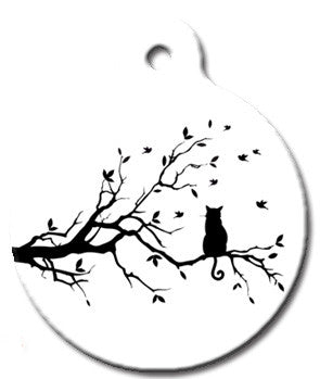 Bird Watching Cat ID Tag - Wag-A-Tude Tags