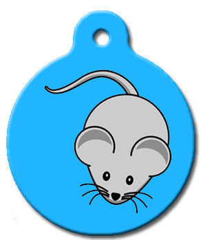 Blue Mouse Cat Tag - Wag-A-Tude Tags