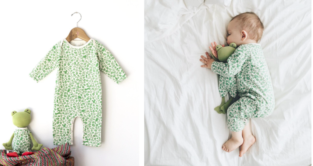 lla Toad's organic cotton romper is made by Winter Water Factory, who also makes the cutest matching romper for babies. Photo credit: Winter Water Factory.