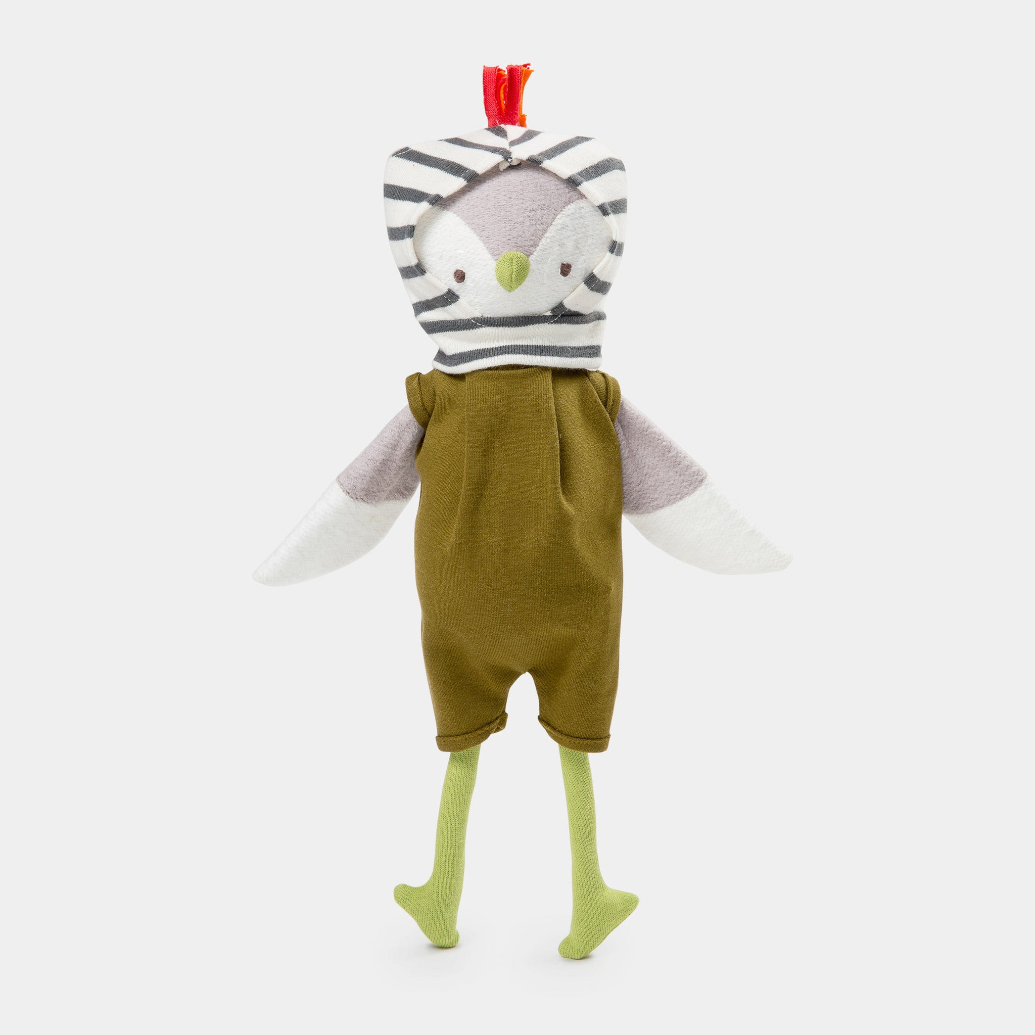 The soft toy, Jeremy Owl - a sustainable organic cotton cuddly toy owl by Hazel Village