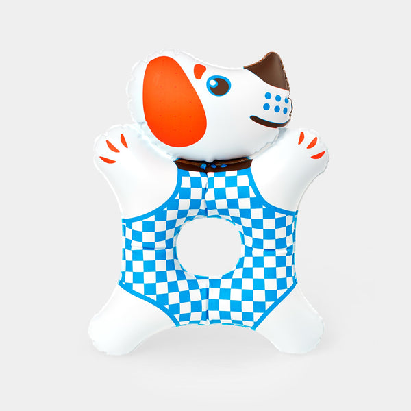 This beautiful inflatable Doggie is a Czech design classic from the 1970s. It is designed by the legendary Czech toy designer Libuše Niklová.
