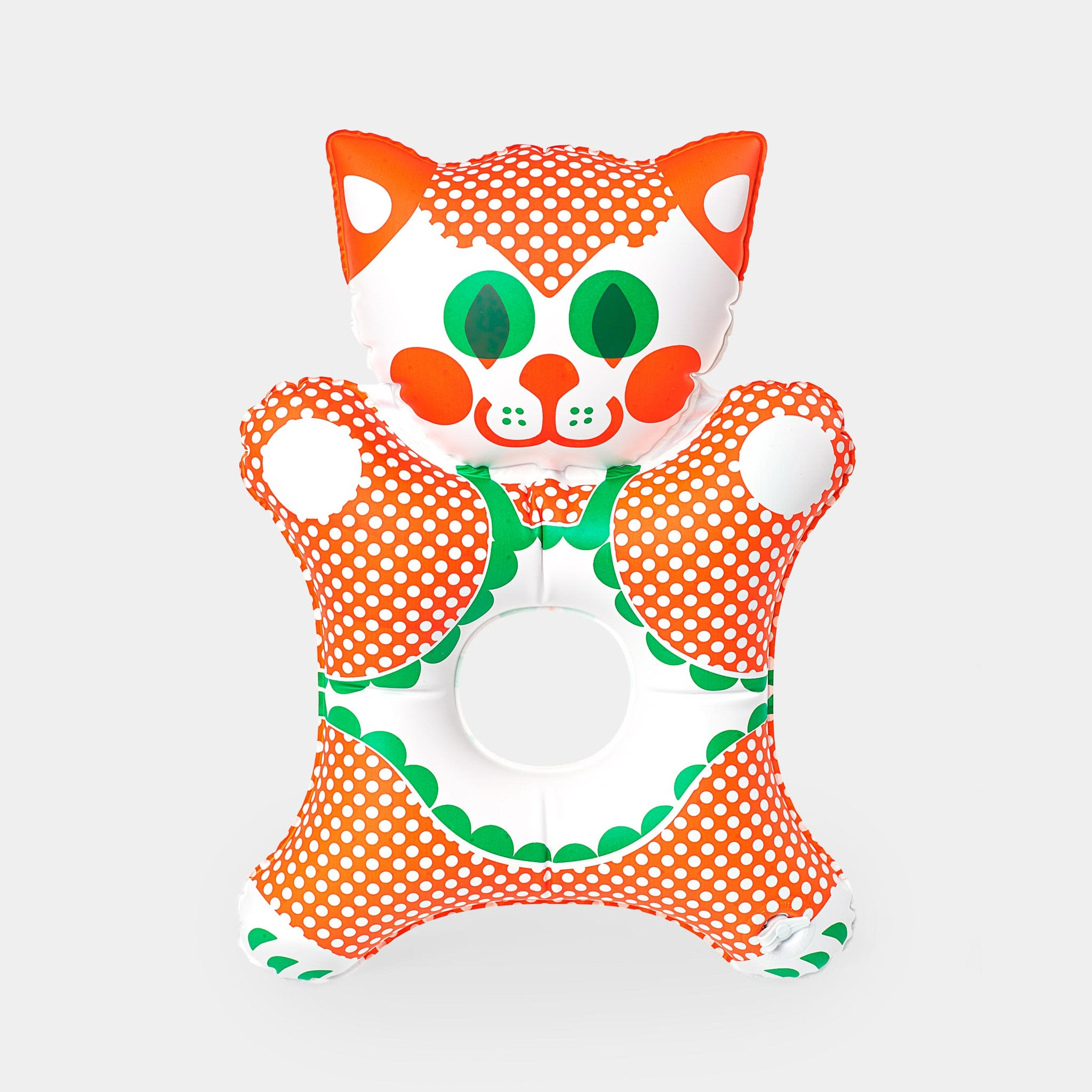 This beautiful inflatable Kitty is a Czech design classic from the 1970s. It is designed by the legendary Czech toy designer Libuše Niklová.