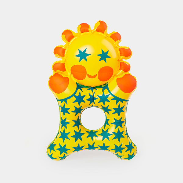 This beautiful inflatable Little Sun is a Czech design classic from the 1970s. It is designed by the legendary Czech toy designer Libuše Niklová.