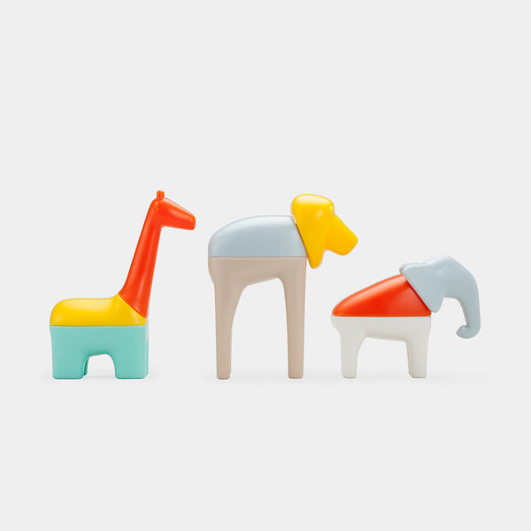 Kid O's brightly coloured mix and match animals put together in a creative way