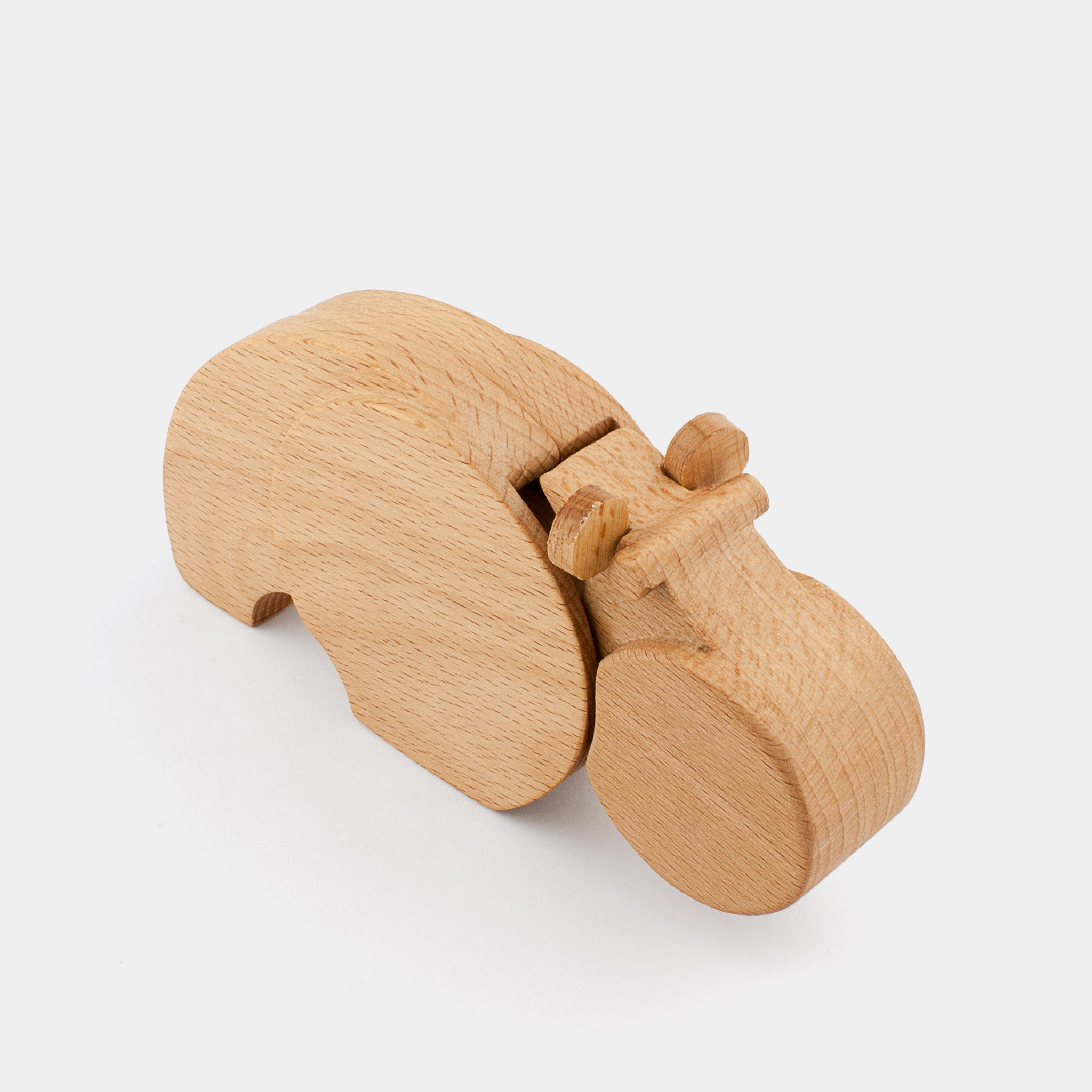 Hipu The Hippopotamus by Wodibow — A great wooden animal puzzle with internal magnets that allow assembly of each puzzle and a bit of movement.