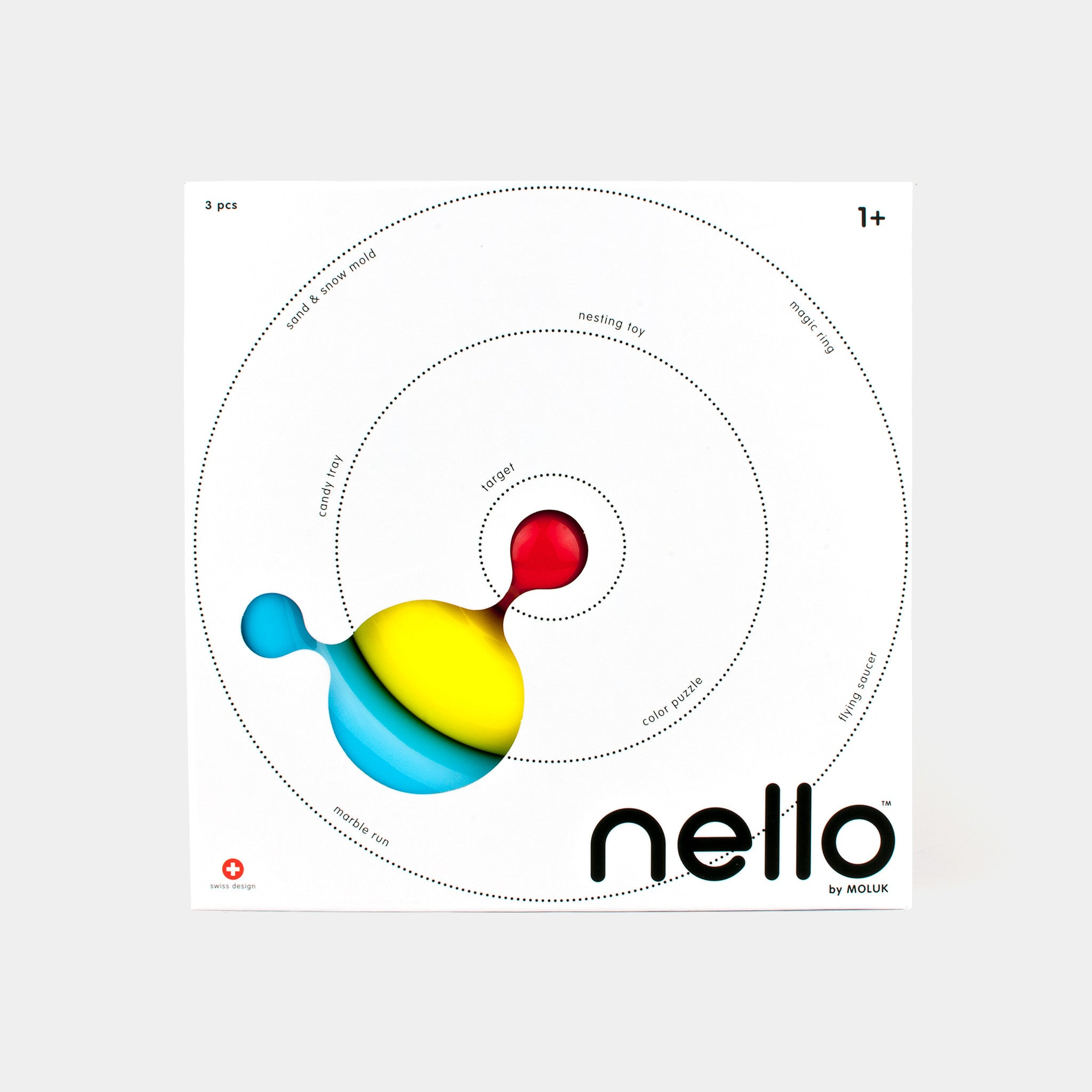 Nello is a magic object and versatile, open-ended toy that quickly becomes an indispensable accessory for countless play activities, indoors and outdoors.