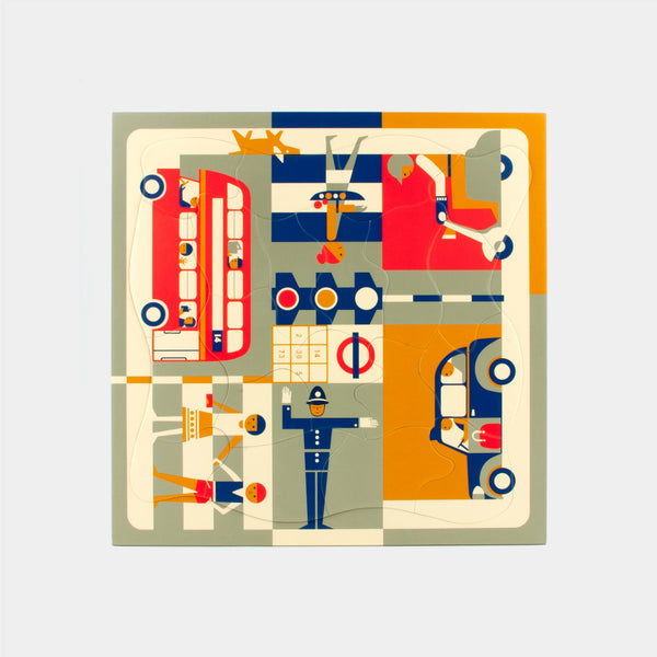 Multi-view London puzzle Puzzles from 1964 by designer Fredun Shapur