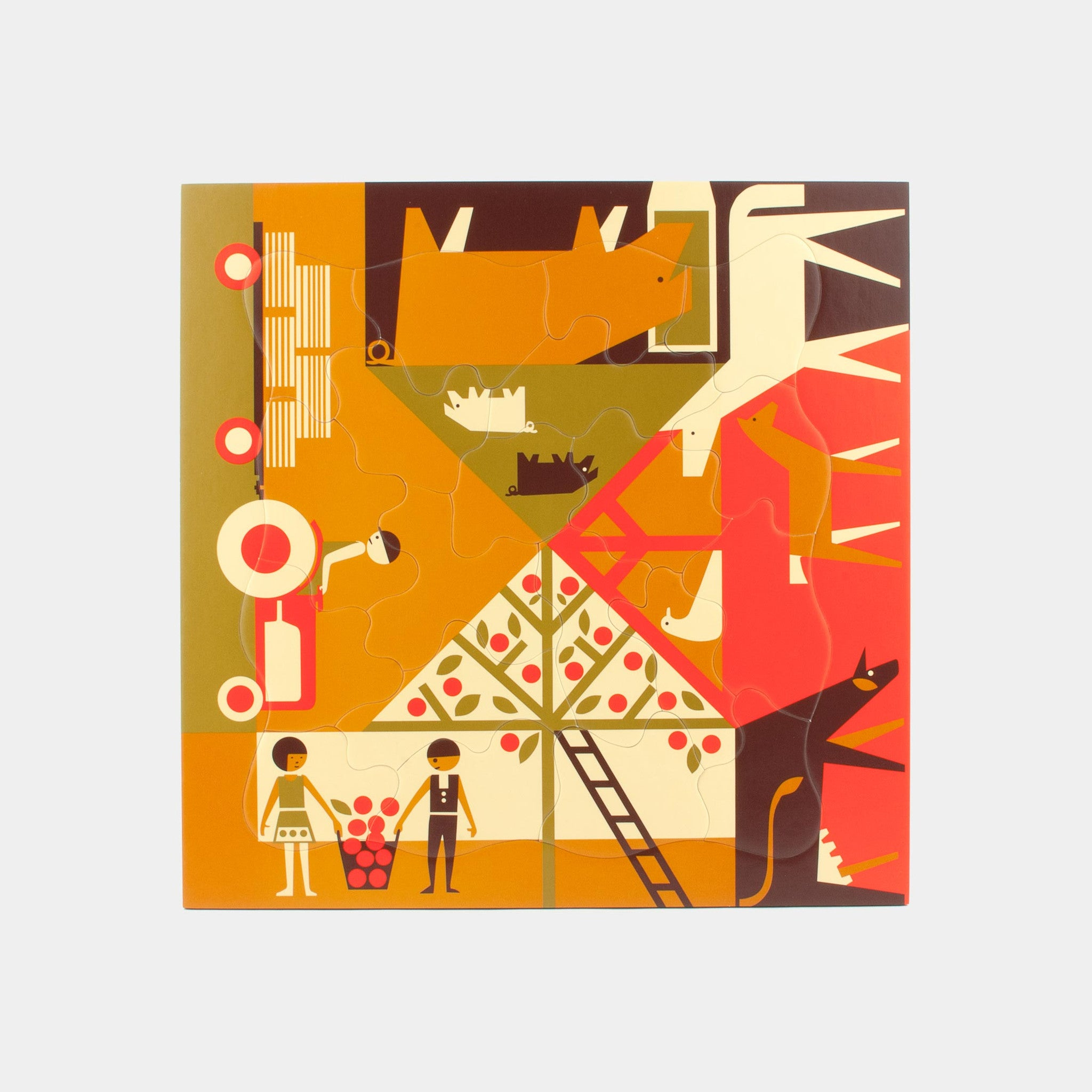 Multi-view farming puzzle Puzzles from 1964 by designer Fredun Shapur