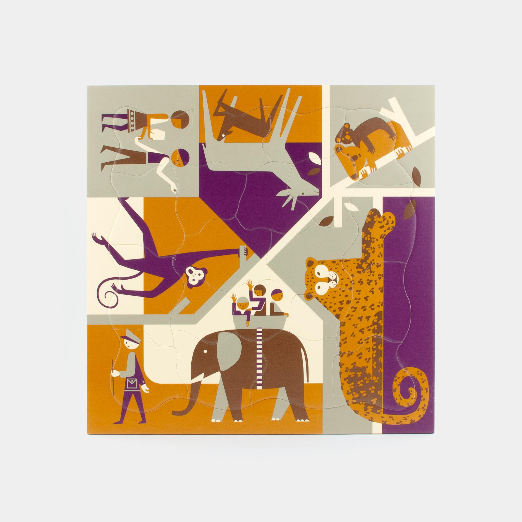 Multi-view Zoo puzzle Puzzles from 1964 by designer Fredun Shapur
