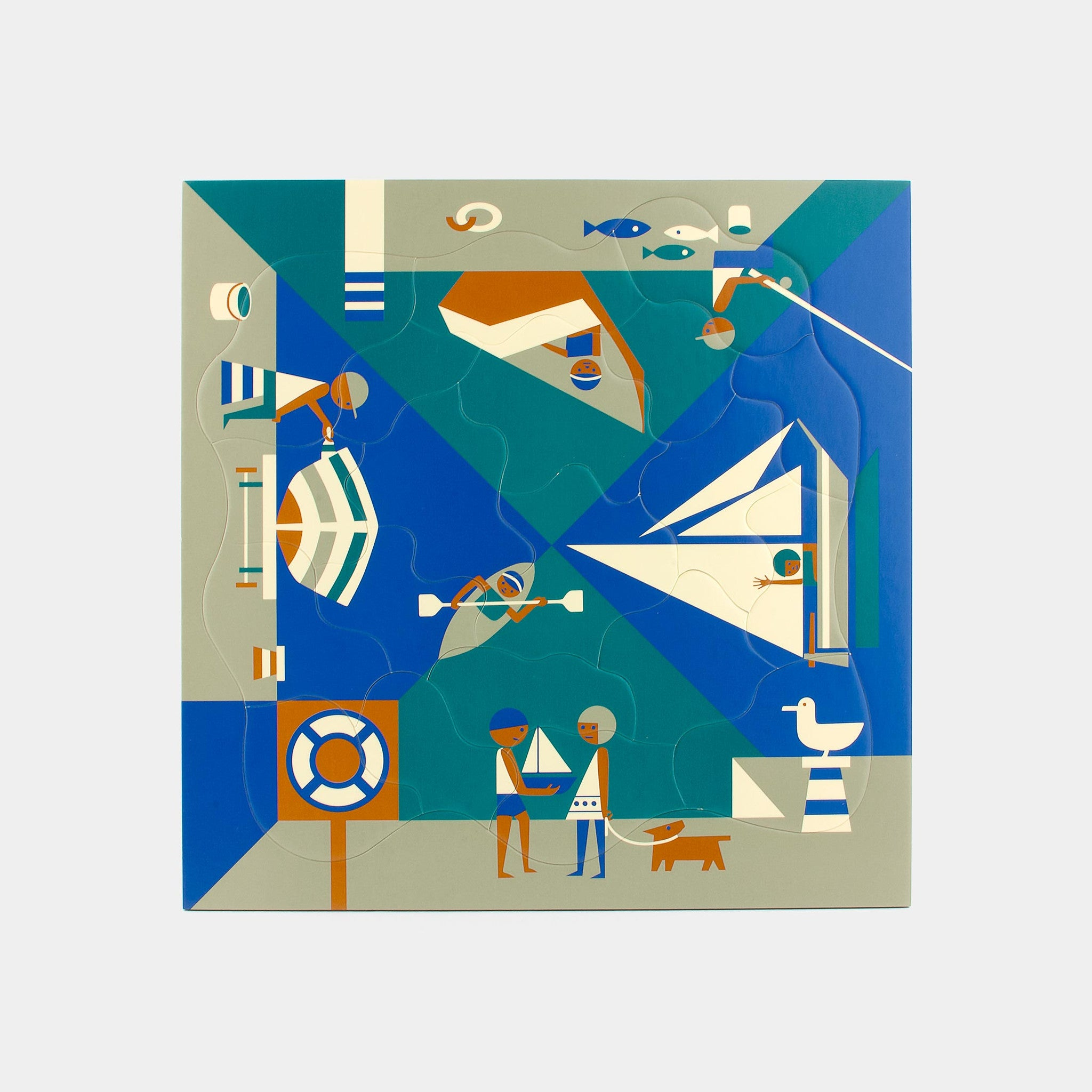 Multi-view Seaside puzzle Puzzles from 1964 by designer Fredun Shapur