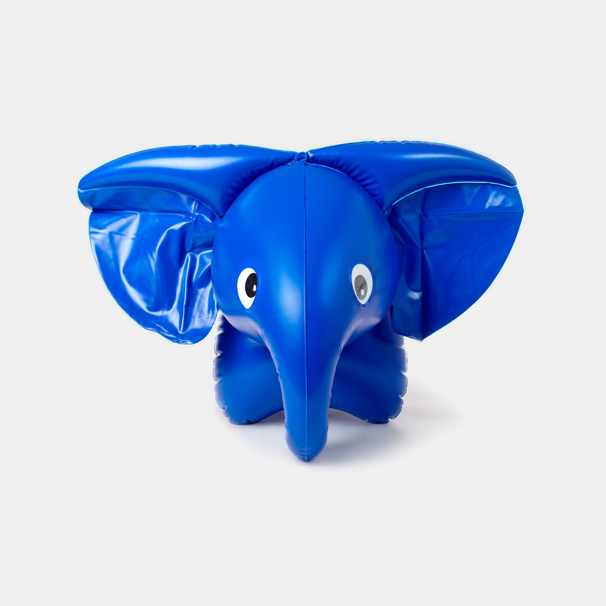 This beautiful blue inflatable elephant is a Czech design classic from the 1970s. It is designed by the legendary Czech toy designer Libuše Niklová and is exhibited in MoMA's 'Century of the Child'.