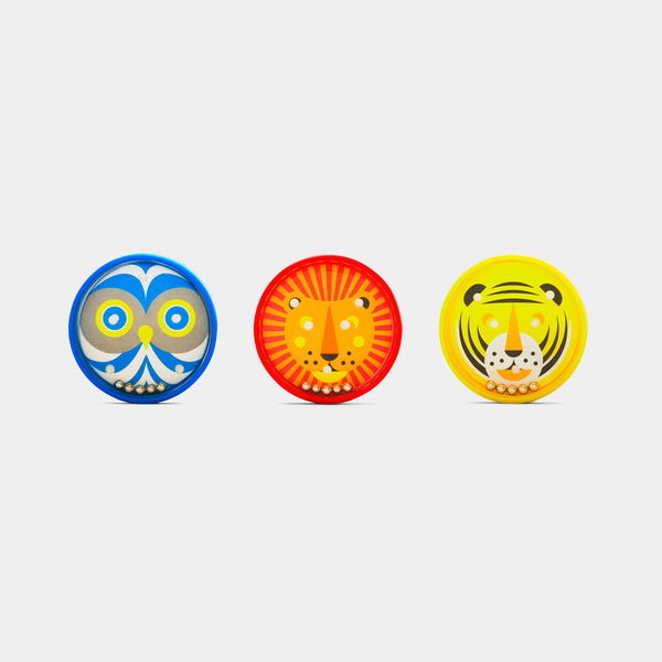 Kid O animal bead tilt toy showing tiger, lion and owl