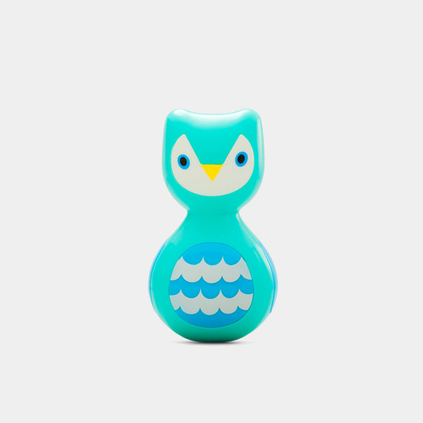 Kid O's colourful wobbling owl seen from the front