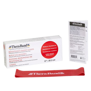 "Thera-Band Resistance Band Loops 12""  Red Medium - SelfCareCentral - Thera-Band"