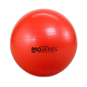 Thera-Band Pro Series Slow-Deflate Exercise Ball 55 cm Red - SelfCareCentral - Thera-Band