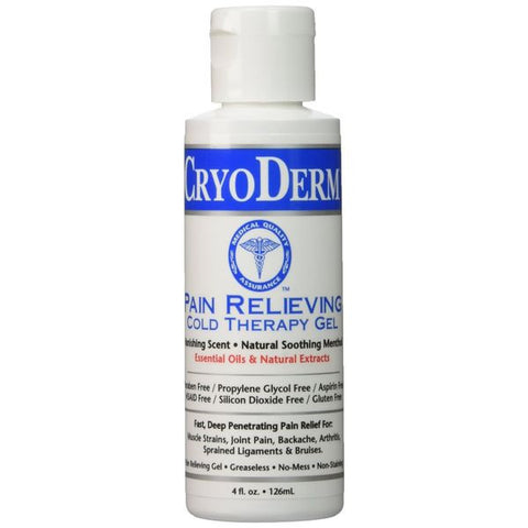 Cryoderm Pain Relief 4 oz Gel Bottle - SelfCareCentral - CryoDerm