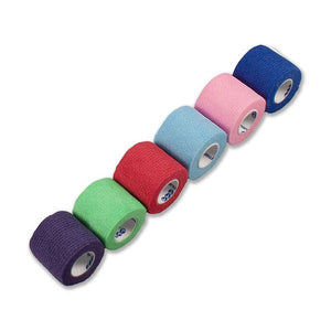 "Sensi-Wrap Self Adherent Tape 2"" x 5 Yds Rainbow 6/Color 36/Case - SelfCareCentral - Dynarex"