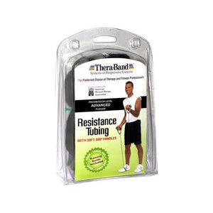 "Thera-Band Tubing with Soft Grip Handles Black 50"" - SelfCareCentral - Thera-Band"