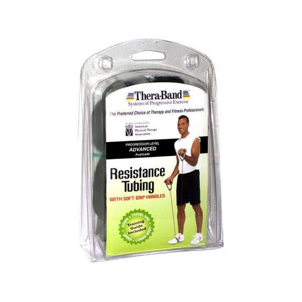 Thera-Band Tubing with Soft Grip Handles Black 50