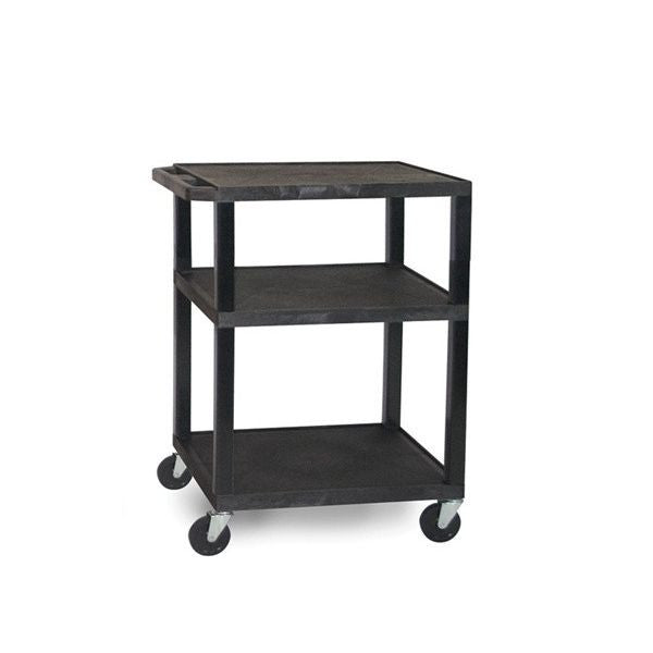 Luxor Tuffy Multi-Purpose Cart with Electrical, Black - SelfCareCentral - Luxor