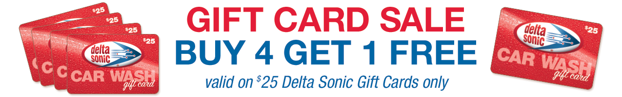 $25 Gift Cards | Buy 4 Get 1 FREE