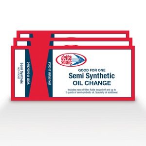 3 pack of Delta Sonic's Semi Synthetic Oil Change tickets