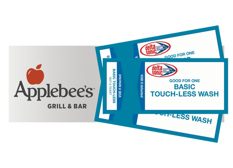 3 Basic Touch-Less Car Washes and FREE Dinner at Applebee's