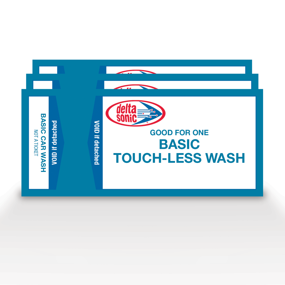 3 tickets for Delta Sonic's Basic Touch-Less car washes