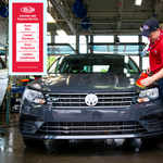 Delta Sonic Detail Shop employee performing Hand Wax Express Detail service