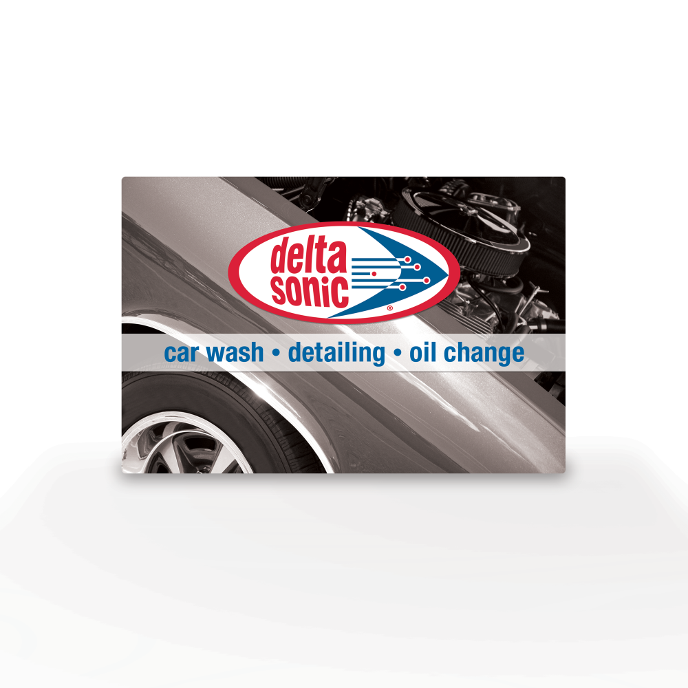 Image of Delta Sonic gift card.