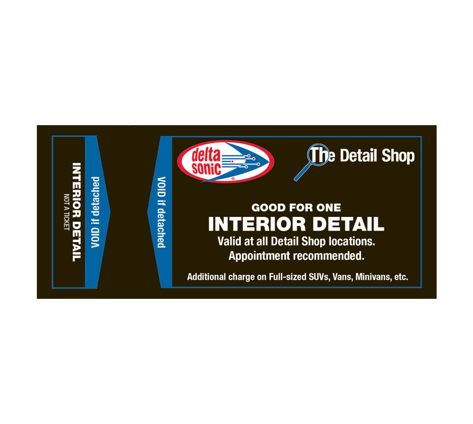 Delta sonic interior cleaning cost Delta sonic interior cleaning coupons