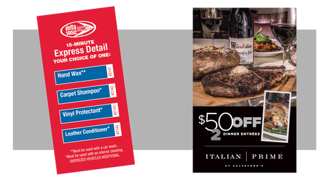 Express Detail and FREE $50 Dinner Certificate to Salvatore's