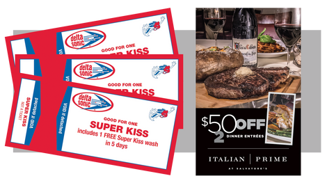 3 Super Kiss Washes and FREE $50 Dinner Certificate to Salvatore's