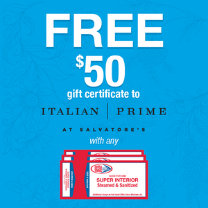 3 Pack of Super Interior Cleanings & $50 Salvatore's Gift Certificate